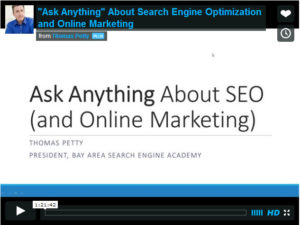Free SEO Webinar Ask Anything About SEO